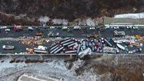 China motorway pile-up
