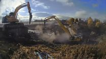 Time-lapse captures bridge demolition