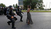 Siyah hakları protestolarının simgesi olan fotoğraftaki kadın
