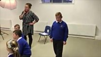 Primary school nails mannequin challenge