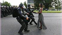 'Há poder feminino e negro ali': mulher que parou polícia nos EUA explica foto icônica