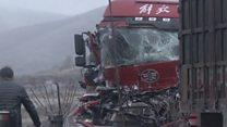 اصطدام أكثر من 50 سيارة في حادث سير ضخم  في الصين