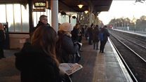 Trains delays cause commuter misery