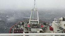 Tywydd drwg Antarctica