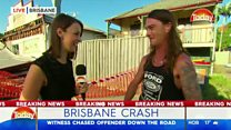 Underwear 'hero' chases crash driver