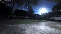 Câmeras registram clarão após 'bola de fogo' no céu da Flórida