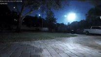 بالفيديو: كرة نارية تضيئ سماء فلوريدا