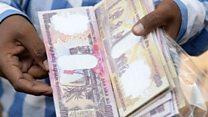 'पैसा सिर्फ़ देखने के लिए रह गया है'