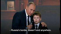 プーチン氏「ロシア国境に果てはない」
