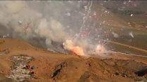 Huge fireworks haul blown up