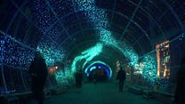 Europe's 'biggest' LED video tunnel
