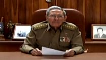 Así anunció el presidente de Cuba, Raúl Castro, la muerte de su hermano Fidel