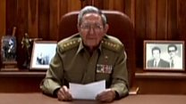 Raúl Castro anuncia morte de Fidel