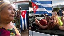 """Havana'da yas, """"Küçük Havana""""da sevinç"""
