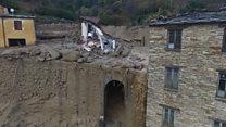 Drone footage of devastating landslides