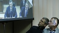 Ex-Ukraine leader in court via video-link