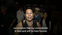 カストロ前議長の弔問にキューバ国民の長い列