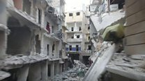 Video shows bombed Syrian hospital