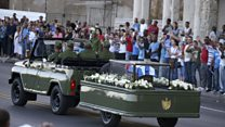 Crowds line street for Castro ashes