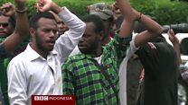 Unjuk rasa tuntut referendum di Papua Barat, 10 pengunjuk rasa ditangkap