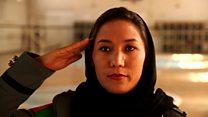 अफ़गान महिलाएं पुलिस मे