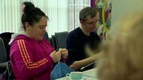 Close-knit group make knockers and natter