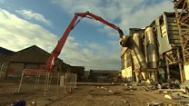 Demolition begins on 19th century mill