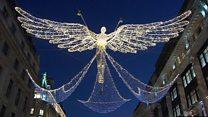 В Лондоне зажгли рождественскую иллюминацию