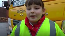 A new road gritter has been named Nicole Saltslinger
