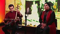 اجرای موسیقی سارا حمیدی در استودیوی بی بی سی