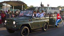 Crowds greet Castro funeral cortege