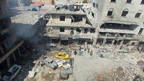 Duqeyn loo geystay gobolka Idlib ee Suuriya