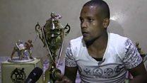 الصراع في اليمن يحول أبطالا في الرياضة إلى حمالين ومحاربين