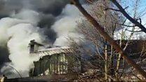 Fire fought at hazardous waste site