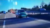 Motorist drives wrong way on trunk road