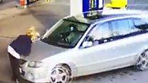 Garage worker hit by fuel thief's car