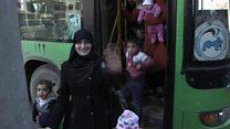 الاحتفالات تعم أحياء في حلب بعد عودة السكان إلى منازلهم