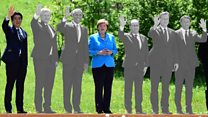Watch G7 leaders disappear