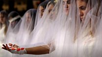 Wedding dress demo urges rape law change