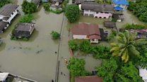 Aerial footage shows Thai flood damage