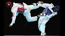 محمد باقری معمتد، مدال آور تکواندوی ایران برای تیم ملی آذربایجان مبارزه می کند