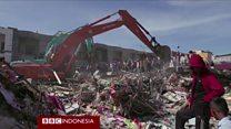 Pencarian korban gempa Aceh, petugas gunakan peralatan canggih