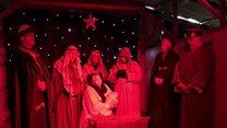 Children's pig sty nativity