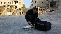 حلب: شباب يوثقون دمار مدينتهم باستخدام طائرات بدون طيار