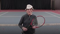 95-year-old tennis player