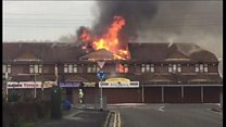 Firefighters tackle large hotel blaze