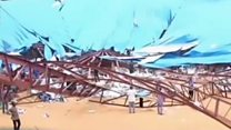 Aftermath of Nigeria church roof collapse