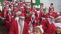 Santas on the run across the West