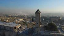 Східне Алеппо на відео з дрона: пустка і руїни