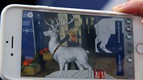 Virtual reindeer and smart mirrors